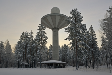the water tower: Water Tower in cold winter morning