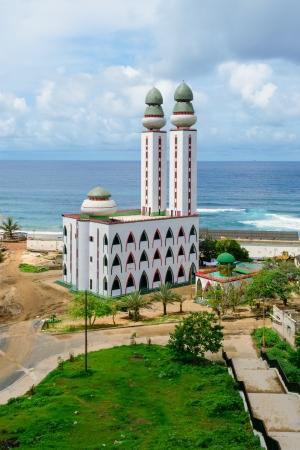 minarets: The Mosque of Divinity in Dakar, Senegal Stock Photo