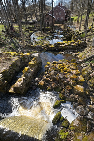 tinplate: Ruins of tin-plate forge in Fagervik Ironworks, Finland