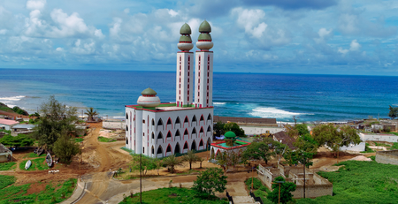 The Mosque of Divinity in Dakar, Senegal Stok Fotoğraf