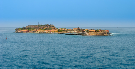 Historic Goree Island (Ile de Goree) and its slave fort. Dakar, Senegal, West Africa