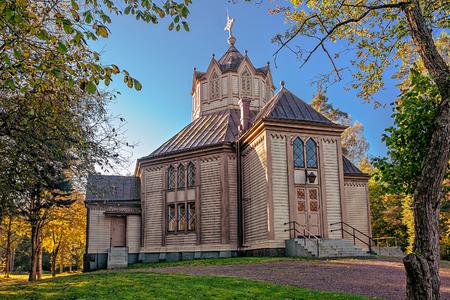 basic shape: Ruotsinpyhtaa church  was built in 1770. The basic shape of the church is octagonal. In 1898, there were basic repairs done, and the church got its present looks.