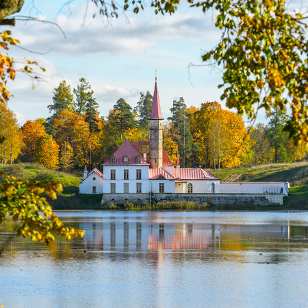 priory: Priory Palace is an original palace in Gatchina (Saint-Petersburg suburb), Russia. It was built in 1799 by the architect N. A. Lvov on the shore of the Black Lake