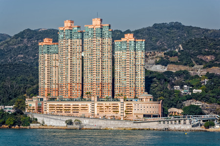 sham: Highrise residential apartments building in Hong Kong New Territories