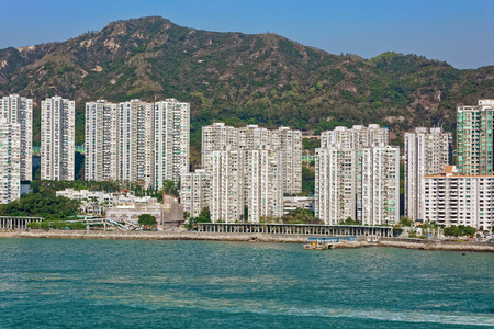territories: Highrise residential apartments building in Hong Kong New Territories