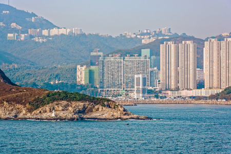 hong kong island: Highrise residential apartments building in Repulse Bay, Hong Kong island