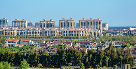 lowrise: Residential low-rise buildings at Changxing island, Shanghai, China