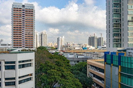 point of view: High point view to a typical housing estate in Singapore.