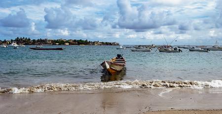 Atlantic ocean coastline in Dakar, Senegal