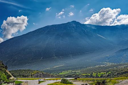 Typical road scene of Taurus Mountains (Turkish: Toros Daglar?) from Cankurtaran Pass, road E87, Turkey