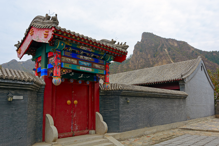 barrack: Gateway to the Military Barracks at the Great Wall, Huangyaguan Pass near Beijing, China