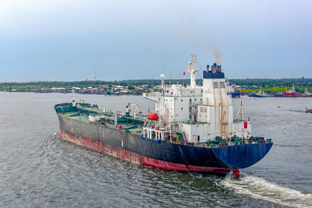 ballast: Oil products tanker in ballast departures from Lagos, Nigeria, Africa