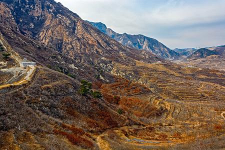 far eastern: Winter Yanshan Mountains scenery. Stock Photo