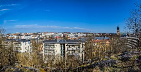 turku: High point view panorama of Turku from Vartiovuori observation deck