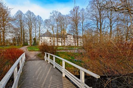 turku: Park around Turku Castle in Finland on a bright spring morning Editorial