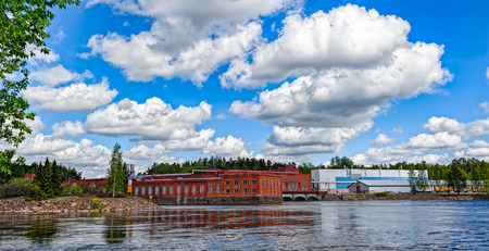 hydroelectric: Hydroelectric power generation plant at Kumijoki river, Finland
