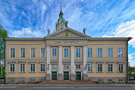 engel: Neoclassical style Porin Raatihuone the town hall (1841) designed by Carl Ludvig Engel in Pori, Finland