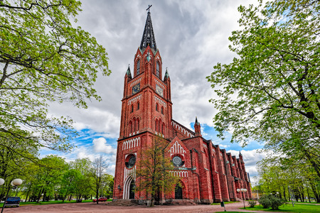 redbrick: The neo-gothic Central Pori church built of redbrick was completed in 1863 in accordance with the drawings made by architect Carl-Johan von Hcideken and was restored In 1995 -1996.