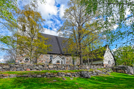Church of The Holy Cross in Rauma, one of the oldest harbours in Finland