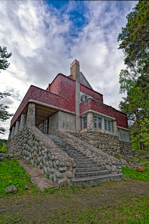 SORTAVALA, RUSSIA - MAY 28, 2016: Dr Gustaf Johannes Winters country house by architect Eliel Saarinen in Sortavala, Republic of Karelia, Russia Editorial