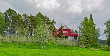 johannes: SORTAVALA, RUSSIA - MAY 28, 2016: Dr Gustaf Johannes Winters country house by architect Eliel Saarinen in Sortavala, Republic of Karelia, Russia Editorial
