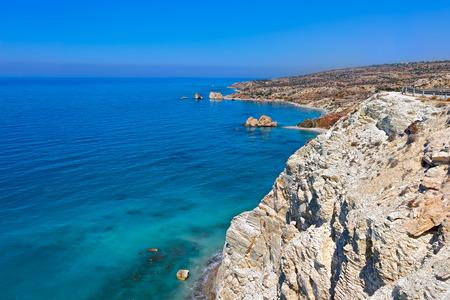 tou: Petra tou Romiou, Aphrodites legendary birthplace in Paphos, Cyprus.