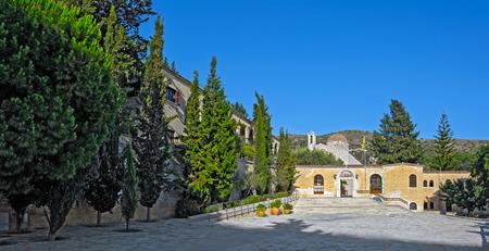 archways: Entrance to Saint Neophytos Monastery near Paphos, Cyprus