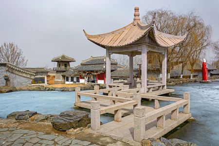 vestal: Temple of Meng Jiangnu, also known as Vestal Virgin Temple, at Shanhaiguan, near Qinhuangdao, Hebei province Stock Photo