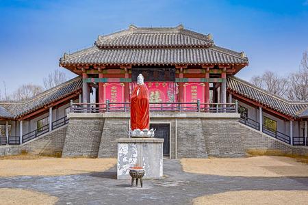 vestal: Statue of Meng Jiangnu, Vestal Virgin, in Temple of Meng Jiangnu, also known as Vestal Virgin Temple, at Shanhaiguan, near Qinhuangdao, Hebei province