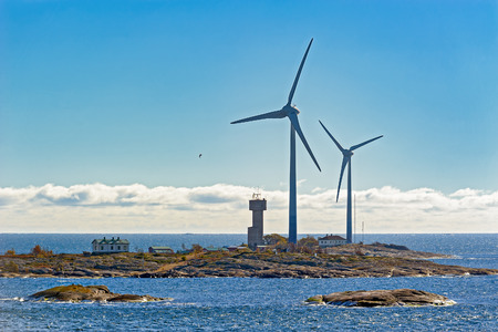 Wind energy power generators for renewable electric energy production in Aland Islands archipelago, Finland
