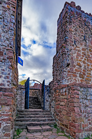 sund: Inner yard of Kastelholm medieval dating to the end of the 14th century, Sund, Aland archipelago, Finland Stock Photo
