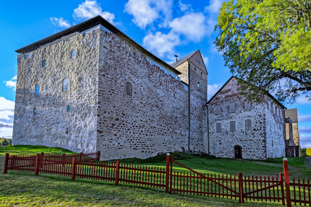 sund: Kastelholm medieval castle dating to the end of the 14th century, Sund, Aland archipelago, Finland at autumn