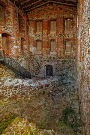 sund: Partially restored interior of Kastelholm medieval castle dating to the end of the 14th century, Sund, Aland archipelago, Finland