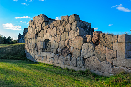 Ruins of the fortress Bomarsund (1832-1854). Remains of fortress destroed during the Crimean War in the field