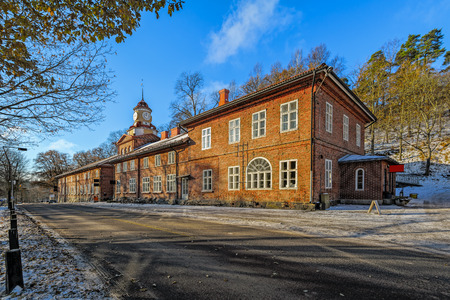 ironworks: The 1849 clock tower in the Fiskars Ironworks Village in Raseborg (formerly Pohja), Finland
