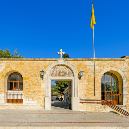 Entrance to Saint Neophytos Monastery near Paphos, Cyprus