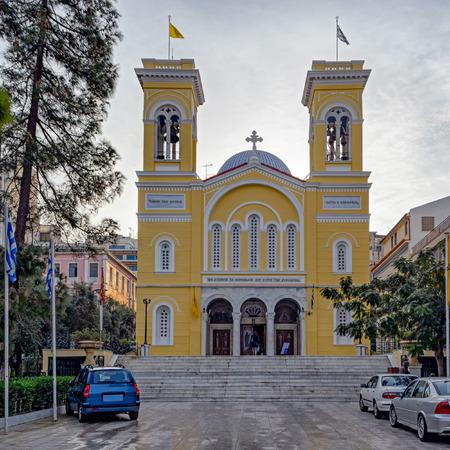 Orthodox Church of Saint Spyridon (Ekklisia Agios Spiridon) in the port city of Piraeus near Athens, Greece, Europe  Stock Photo