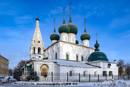 Church of the Savior on the city (Spasa na gorodu). Yaroslavl, Golden ring of Russia at winter