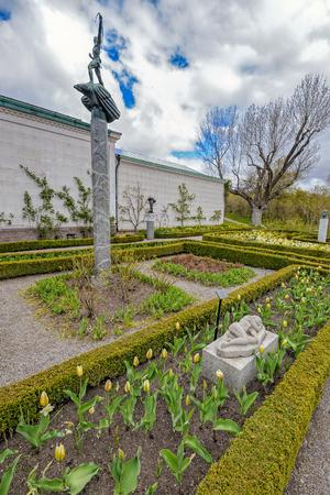 Waldemarsudde (Cape of Waldemar) museum, scenic former residence of Prince Eugen, on Jurgarden island.
