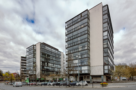 Modern residential buildings in Stockholm suburban.