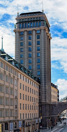 Kungstornen South Tower - one of neoclassical tall buildings are called the Kungstornen or Kings Towers.