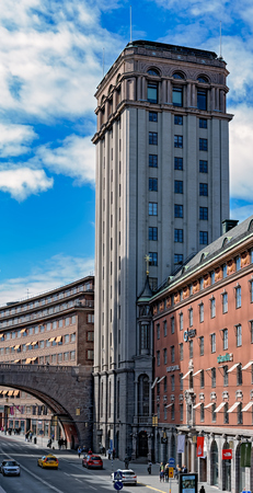 Kungstornen North Tower - one of neoclassical tall buildings are called the Kungstornen or Kings Towers.
