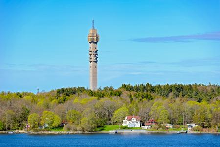 Telecommunications tower Kaknastornet in Stockholm suburb, Sweden.