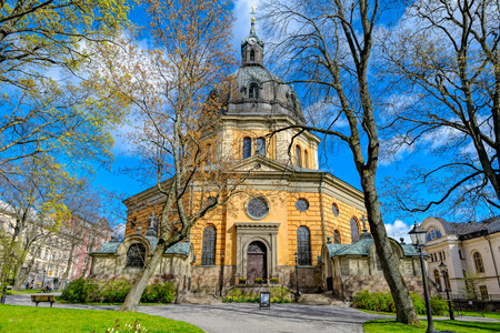 Protestant Hedvig Eleonora Church (Hedvig Eleonora kyrka) in the east district of Ostermalm, central Stockholm, Sweden. The church is one of Stockholms most popular for weddings, christenings and funerals.