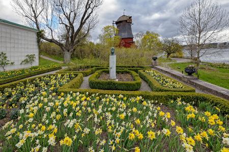 ストックホルム, スウェーデン - 2017 年 5 月 8 日: ブロンズ胸像彫刻王子 Eugens Waldermarsudde 風車、Waldemarsudde ガーデン ギャラリー、ヘルタ ベルリンで