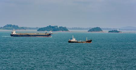 aggregates: Aggregates carrier vessel passes Strait of Singapore