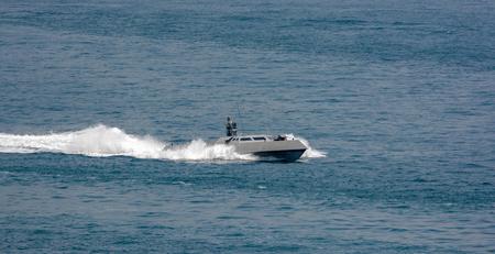 Singapore Navys new high speed stealthy naval interceptor at sea
