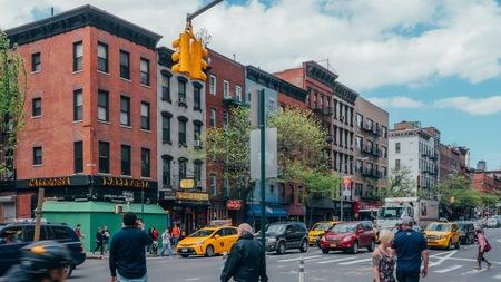 New York, USA / Circa 2016 / Crowded street in West Village