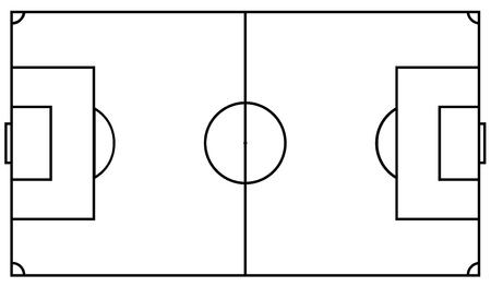 Football field. Vector illustration Standard-Bild - 102382991