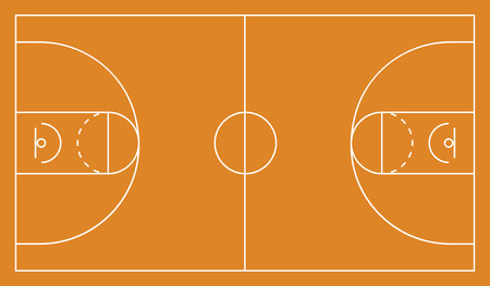 Basketball arena background. Vector illustration